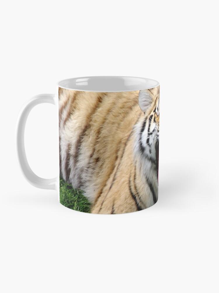 Alternate view of yawning tiger 1 Mug