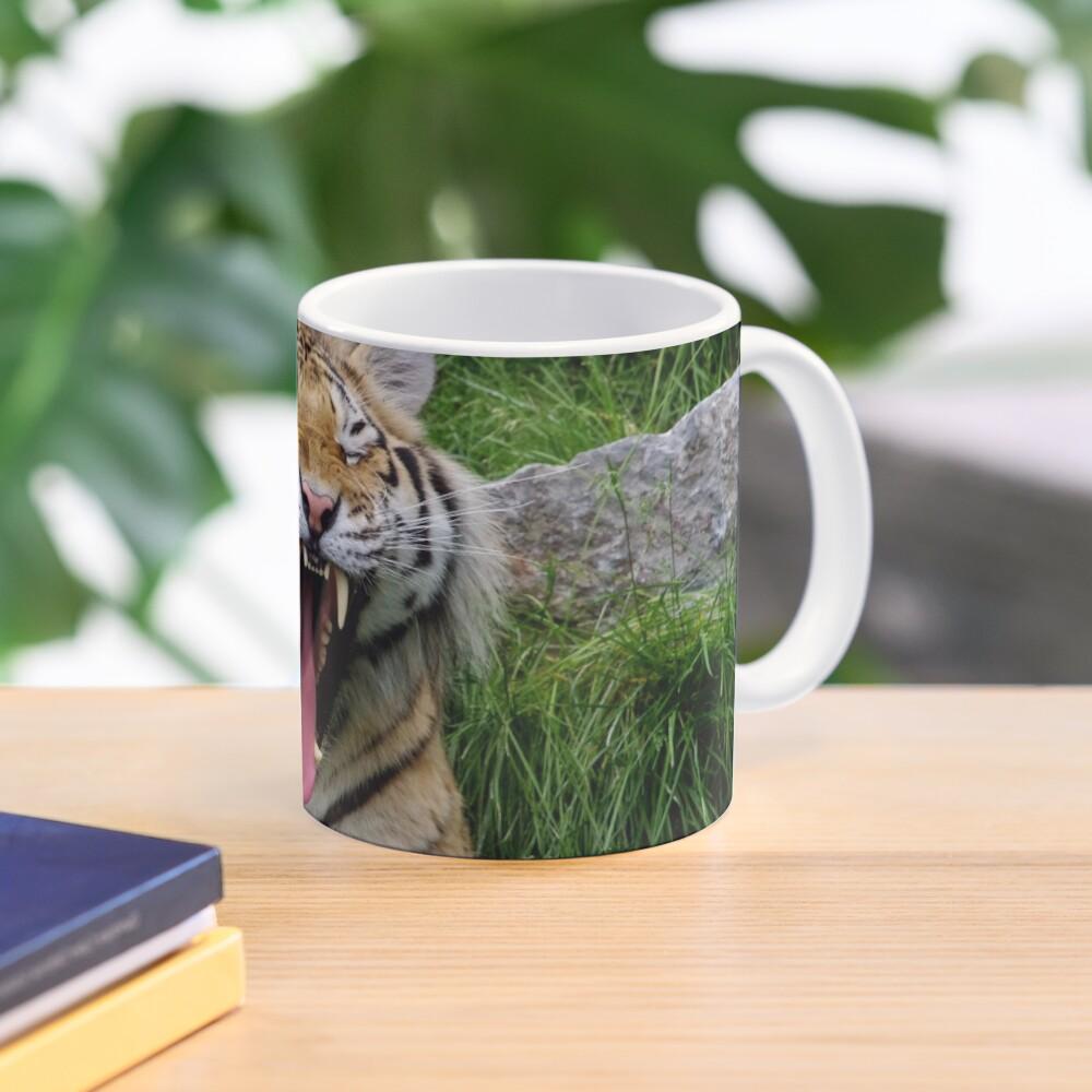yawning tiger 1 Mug