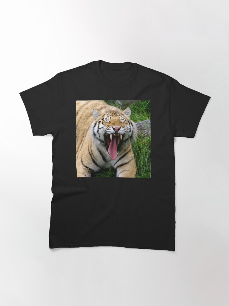 Alternate view of yawning tiger 1 Classic T-Shirt