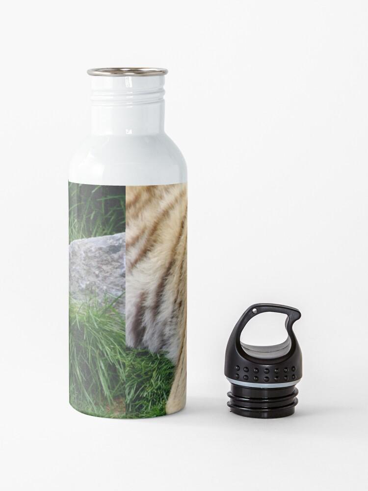 Alternate view of yawning tiger 1 Water Bottle