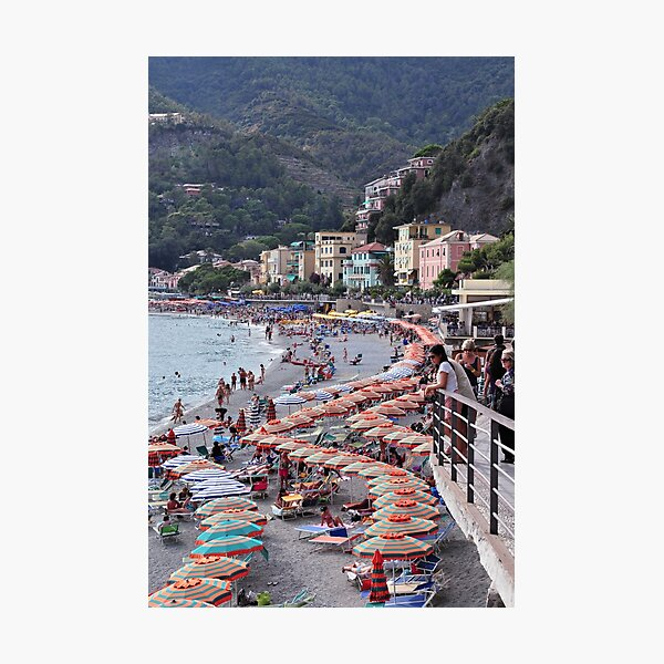 Beach Strip Monterrosso-Cinque Terre  Photographic Print