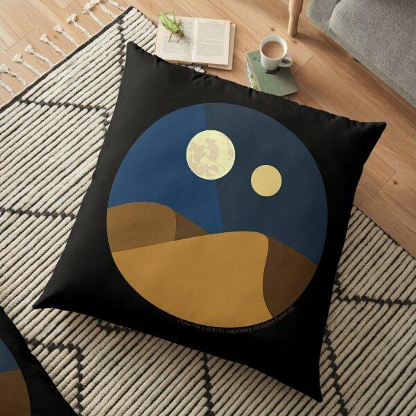 Minimalist Arrakis at Night Floor Pillow