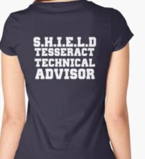 S.H.I.E.L.D Tesseract Technical Advisor Women's Fitted Scoop T-Shirt