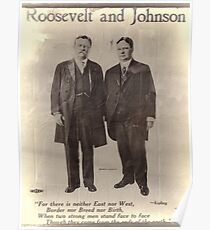 Roosevelt and Johnson poster Poster
