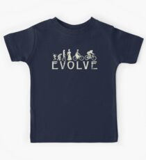 Bike Vintage Women's Evolution of Cycling Kids Tee