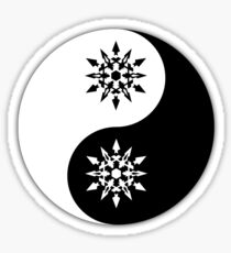 Weiss yin and yang the other yang Sticker