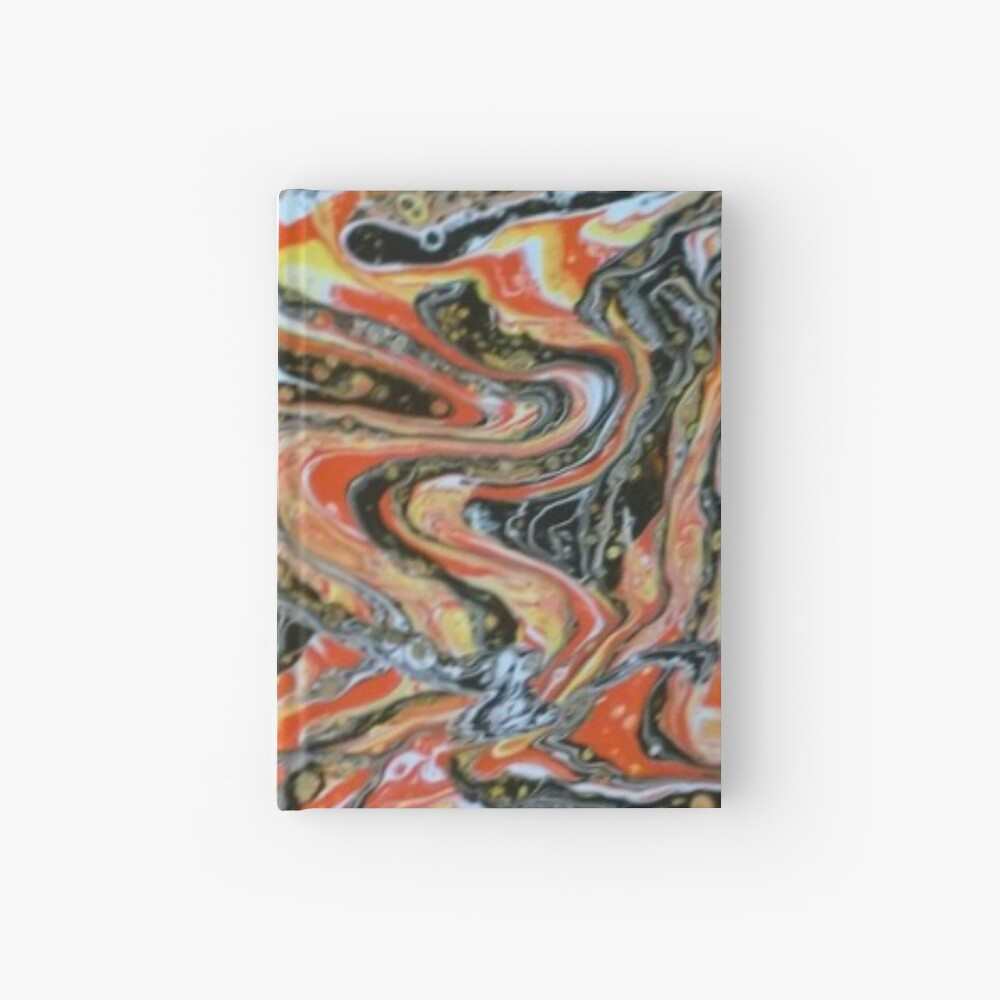 """Abstract Painting-""""Candy Corn""""-Abstract Art-Abstracts Hardcover Journal"""