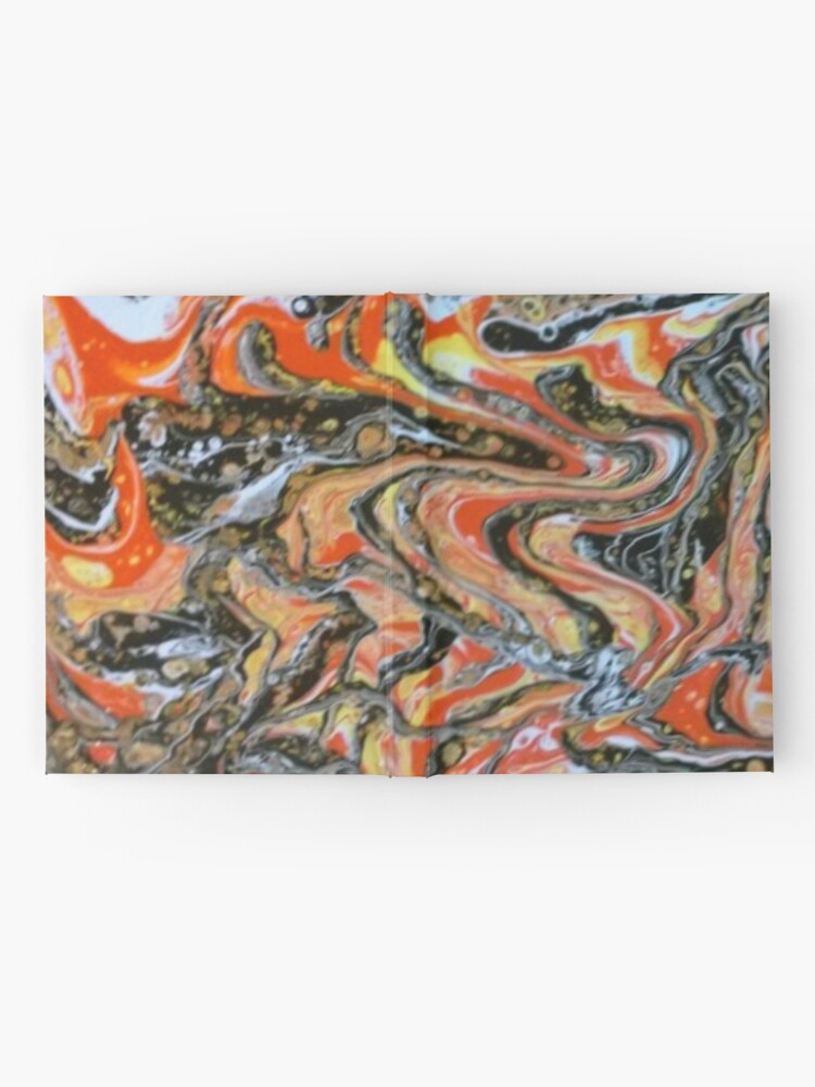 """Alternate view of Abstract Painting-""""Candy Corn""""-Abstract Art-Abstracts Hardcover Journal"""