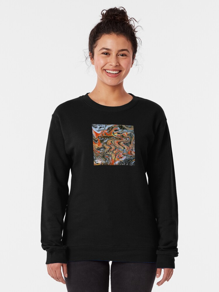 """Alternate view of Abstract Painting-""""Candy Corn""""-Abstract Art-Abstracts Pullover Sweatshirt"""