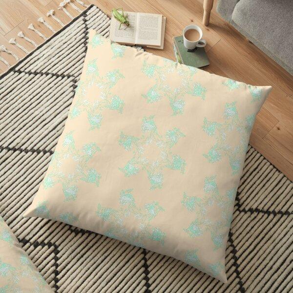 Apricot Leafy Seadragon Floor Pillow