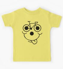 Funny Bike Cycling Face Kids Tee