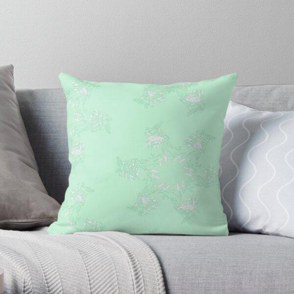 Pistachio Leafy Sea Dragon Throw Pillow