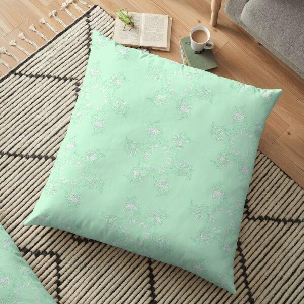 Pistachio Leafy Sea Dragon Floor Pillow