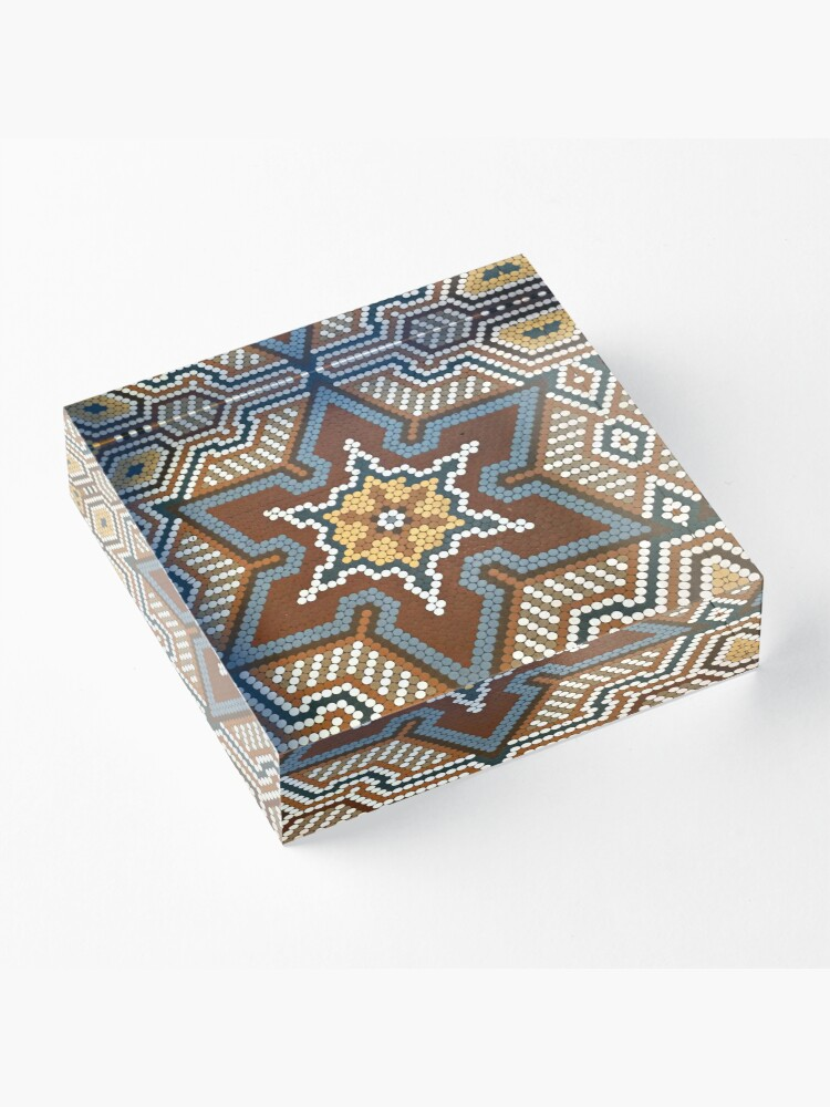 Alternate view of French Lick Resort-floor tile-mosaic tiles Acrylic Block