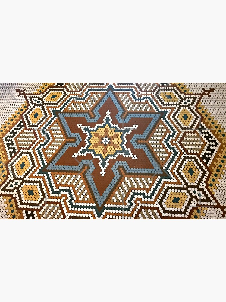 French Lick Resort-floor tile-mosaic tiles by Matlgirl