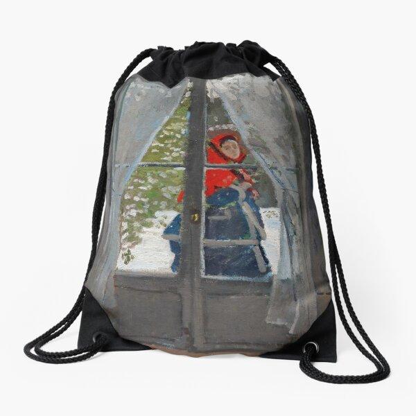 Claude Monet - The Red Cape Drawstring Bag