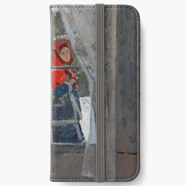 Claude Monet - The Red Cape iPhone Wallet