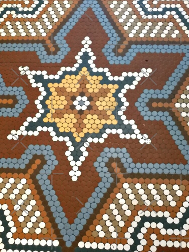 French Lick Resort-floor tile-mosaic tiles by Matlgirl