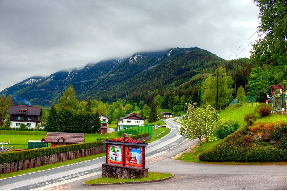 Spring meets winter in the Alps by PeterCseke