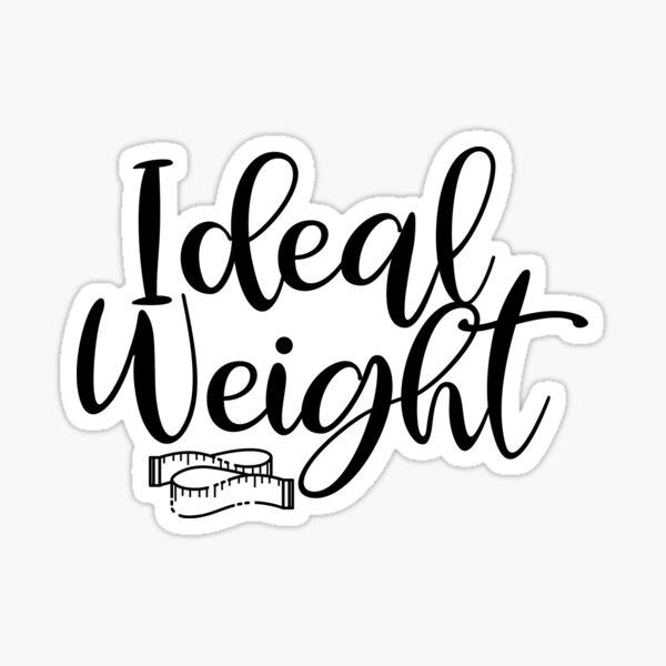 Vision Board Sticker - Ideal Weight Sticker