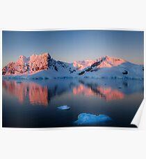Antarctic Sunset Poster