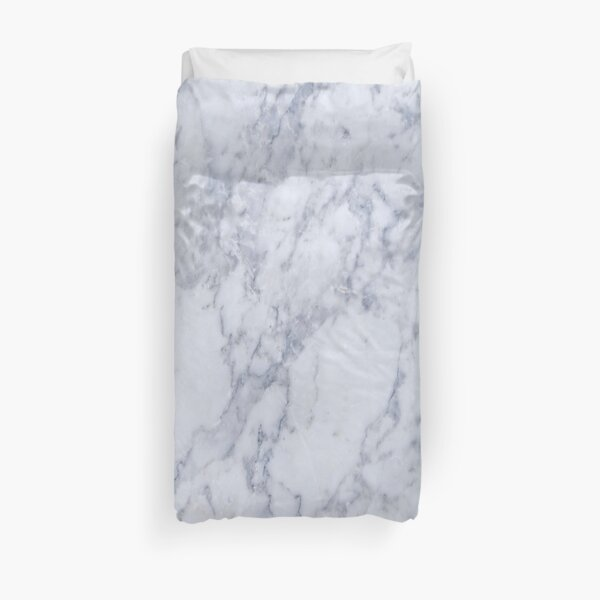 White And Gray Marble Stone Pattern Duvet Cover