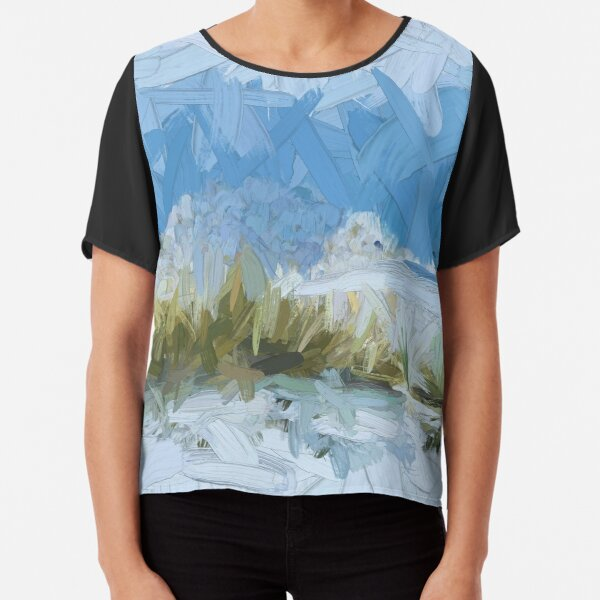 White Sands Abstract Chiffon Top