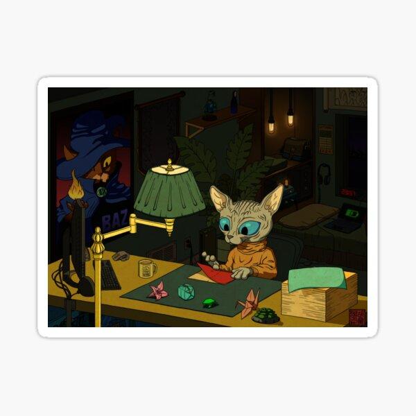 Sphynx Kitty Origami Sticker