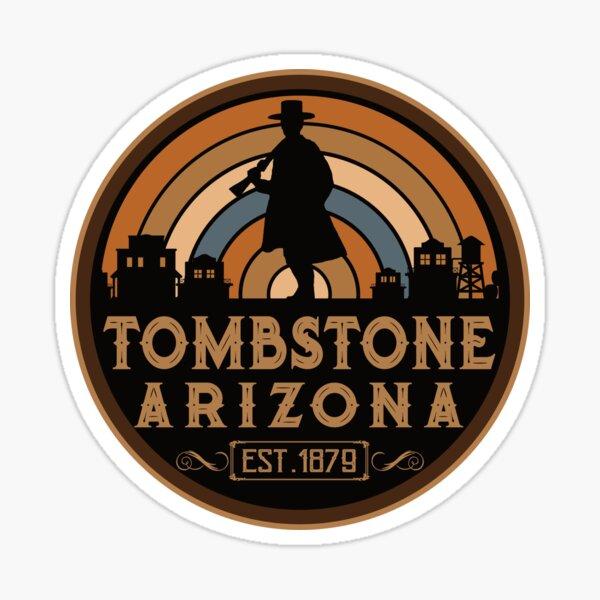 Tombstone, Arizona Retro Wild West Sticker