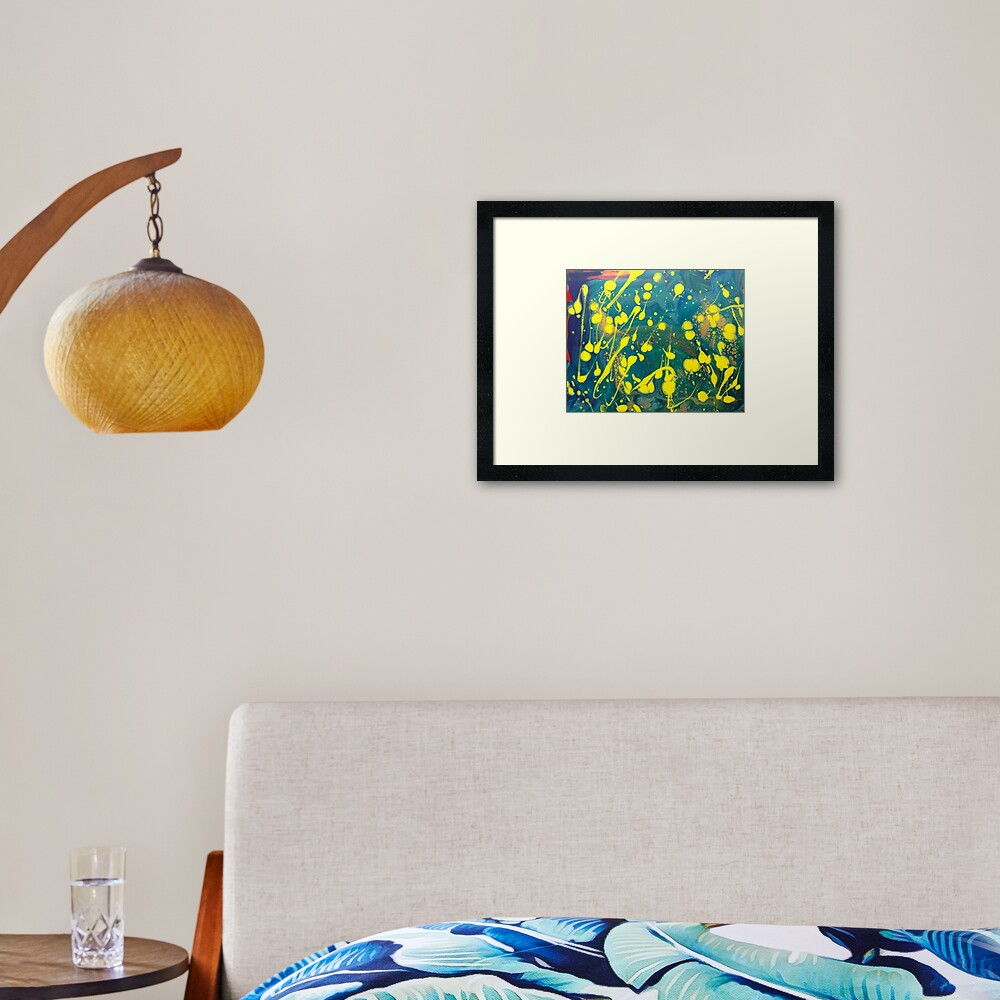 """Abstract Painting-""""Lemon Drops""""-abstract art-abstracts Framed Art Print"""