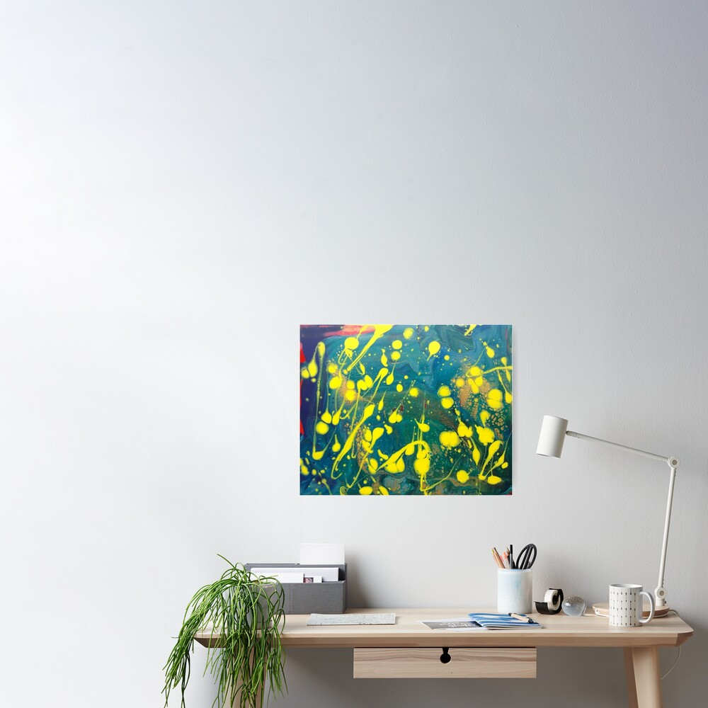 "Abstract Painting-""Lemon Drops""-abstract art-abstracts Poster"