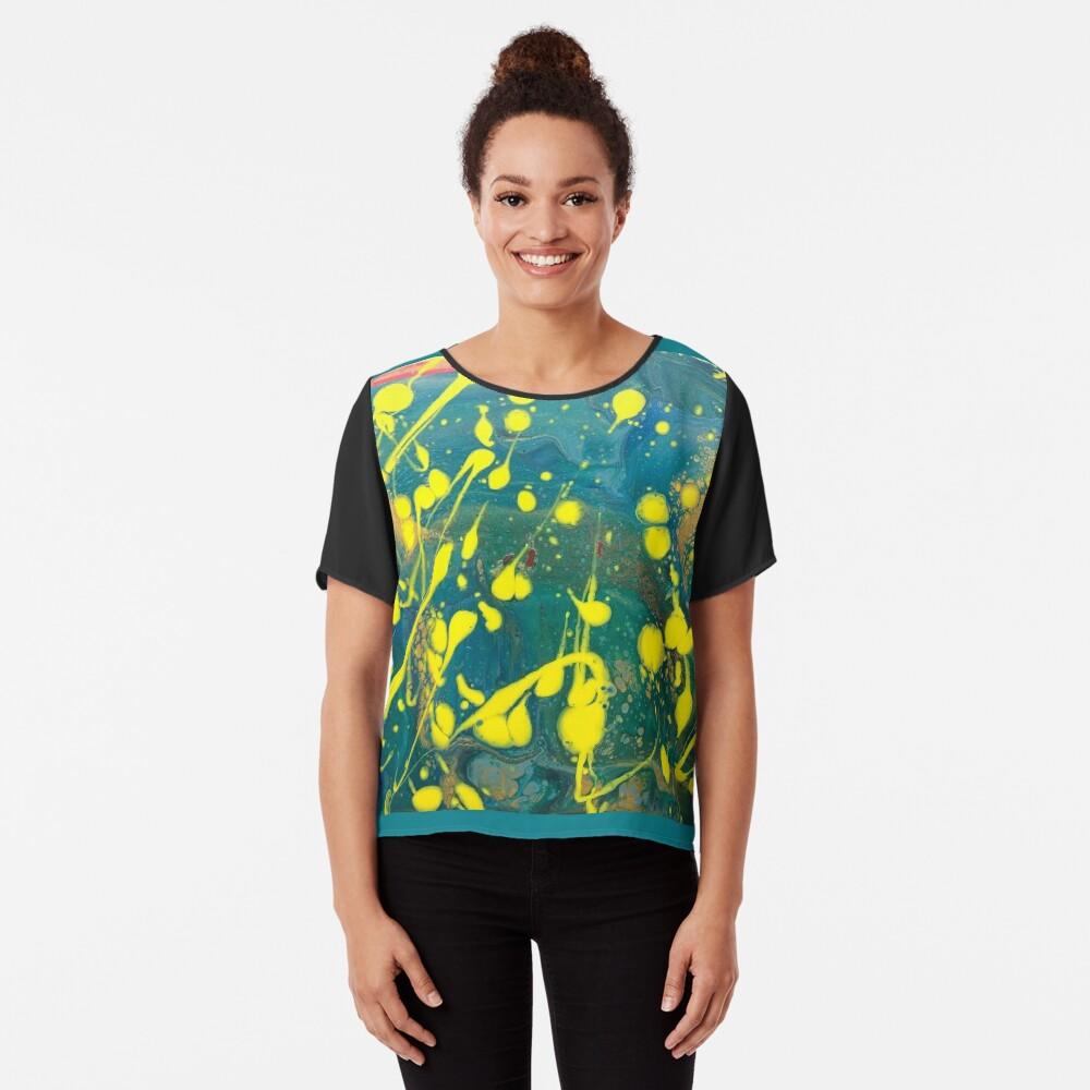 """Abstract Painting-""""Lemon Drops""""-abstract art-abstracts Chiffon Top"""