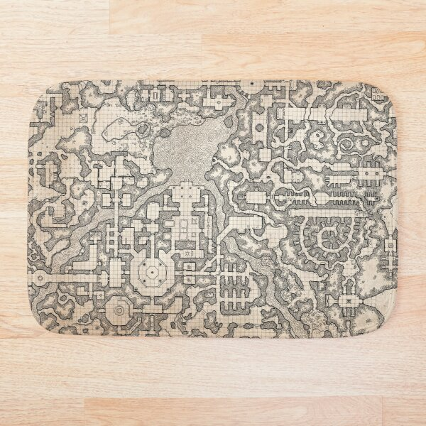 The Winter Tombs - a massive dungeon complex by Dyson Logos Bath Mat