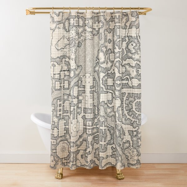 The Winter Tombs - a massive dungeon complex by Dyson Logos Shower Curtain