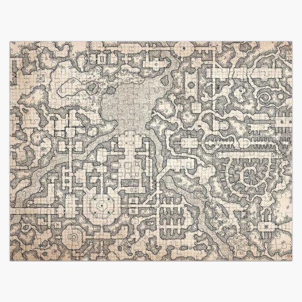 The Winter Tombs - a massive dungeon complex by Dyson Logos Jigsaw Puzzle