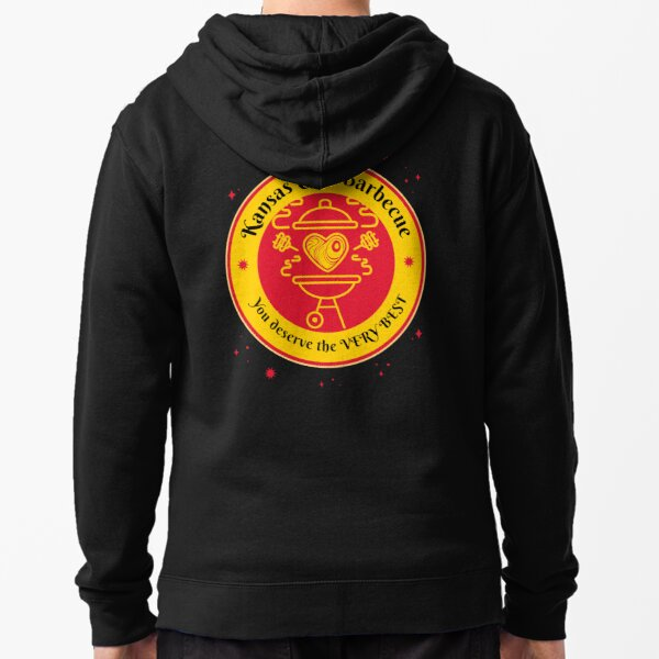 Barbeque BBQ Kansas City Griller funny design Zipped Hoodie