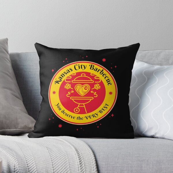 Barbeque BBQ Kansas City Griller funny design Throw Pillow