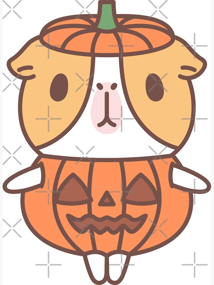 Guinea pig in pumpkin costume  by Miri-Noristudio