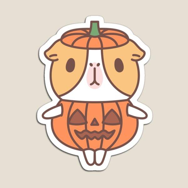 Guinea pig in pumpkin costume  Magnet