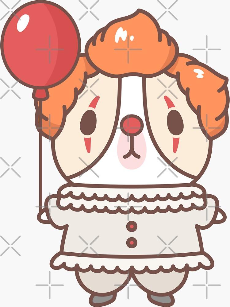 Guinea pig in clown costume  by Miri-Noristudio
