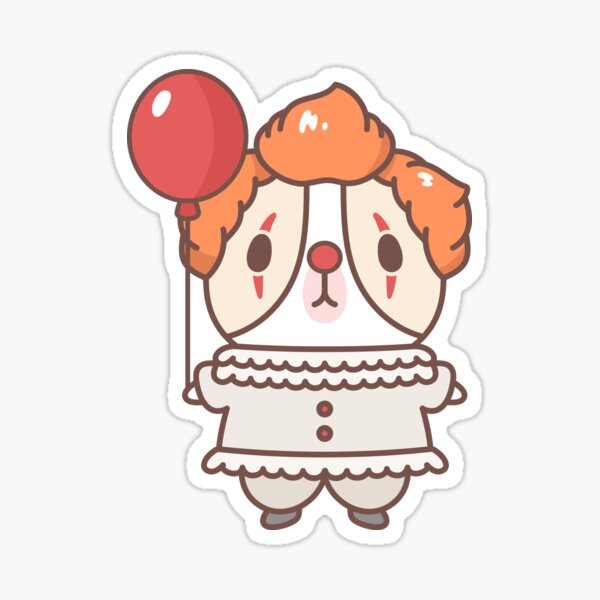 Guinea pig in clown costume  Sticker