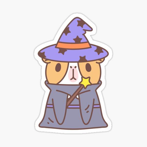 Guinea pig in witch costume  Sticker