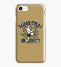MUAY THAI UNIVERSITY iPhone Case/Skin