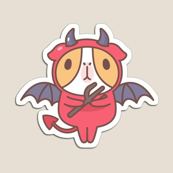 Guinea pig in devil costume  Magnet