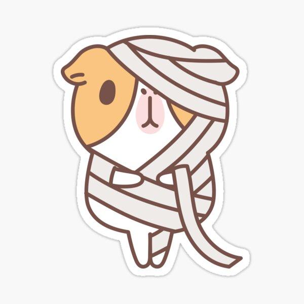 Guinea pig in mummy costume  Sticker