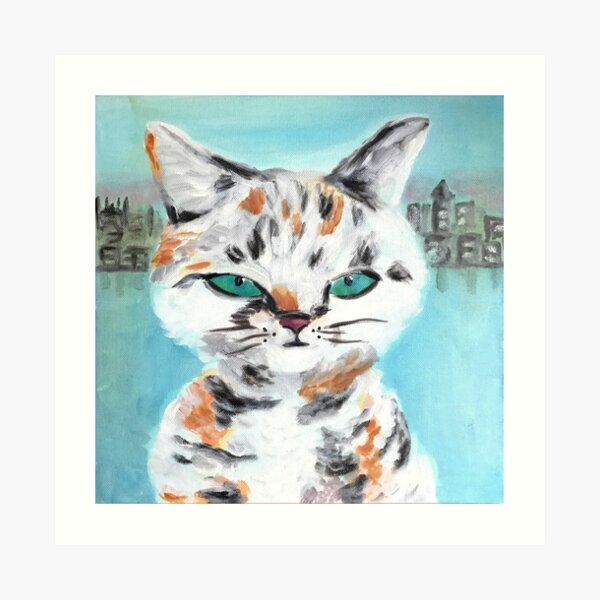 City Kitty-ORIGINAL Art Print