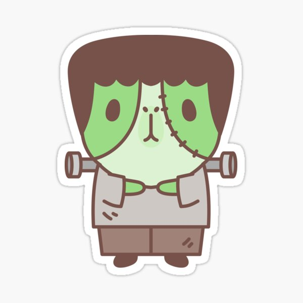 Guinea pig in Frankenstein costume  Sticker