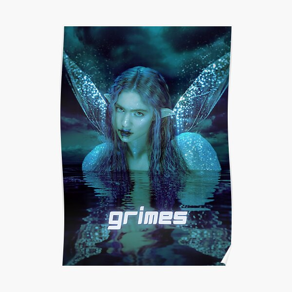 fairie blue green grimes design Poster
