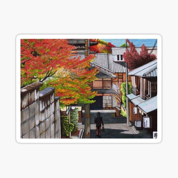 Leaves in Autumn Sticker