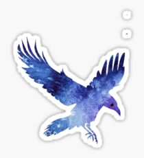 Raven with Itachis Mangekyou Sharingan Sticker